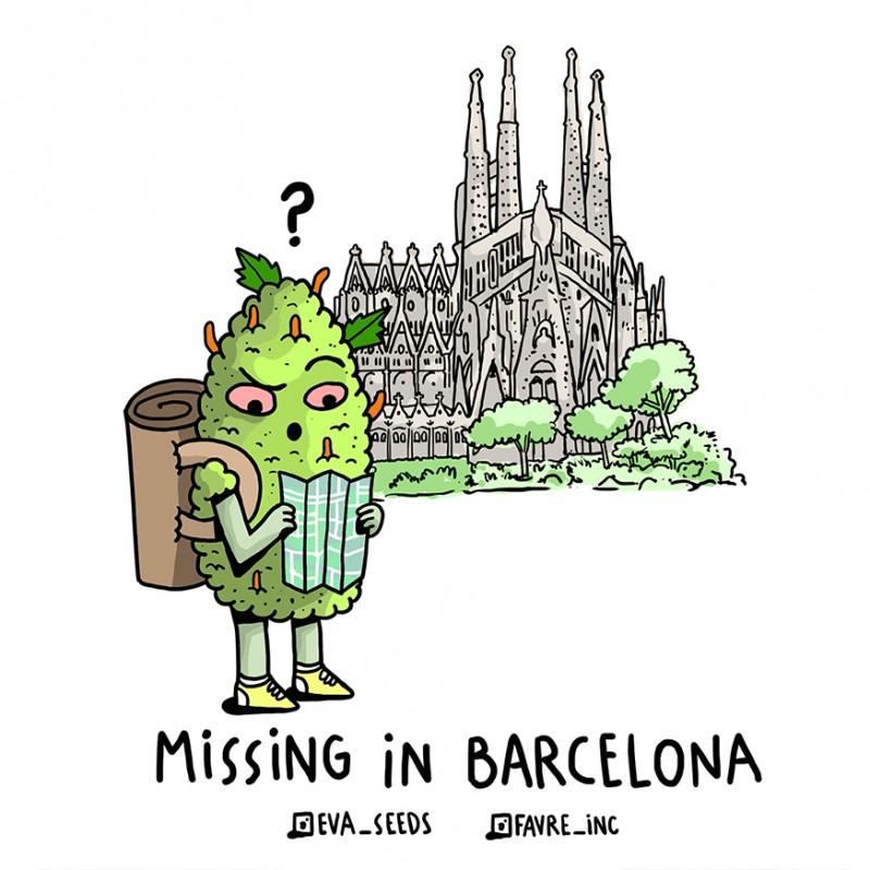 STICKER EVA SEEDS X FAVRE INC MISSING IN BARCELONA