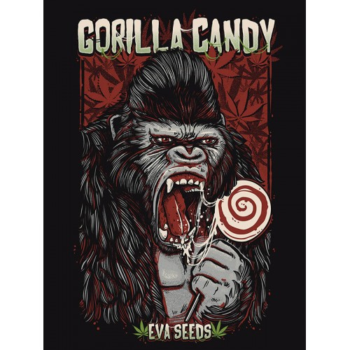 GORILLA CANDY STICKER